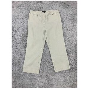 Lafayette 148 Pants Striped Cropped 10 Textured
